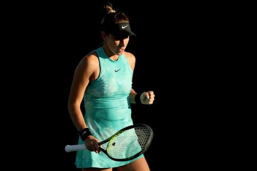 Belinda Bencic clenches her first after defeating Taylor Townsend in straight sets at the Volvo Car Open