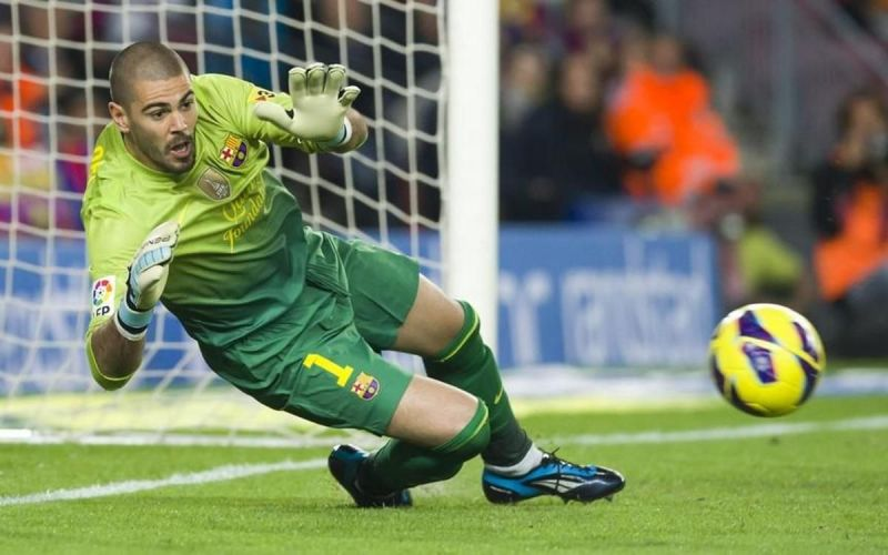Victor Valdes enjoyed a great spell with Barcelona before leaving for Man United in 2014