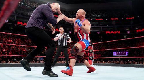 Baron Corbin vs Kurt Angle