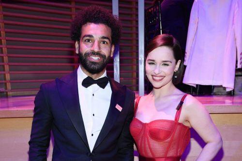 Mohamed Salah and Emilia Clarke
