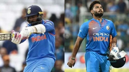 Dinesh Karthik (Left) and Rishabh Pant (Right)