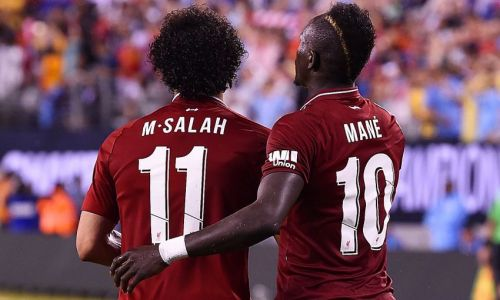 Mo Salah and Sadio Mane