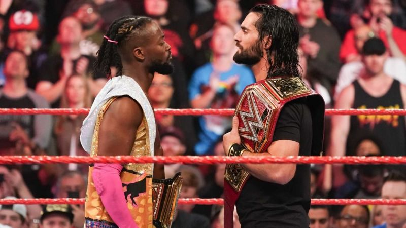 A Champion vs Champion match main evented RAW