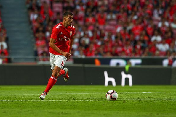 Ruben Dias in action for Benfica.