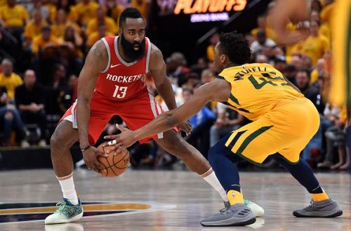 James Harden and the Rockets face the Jazz