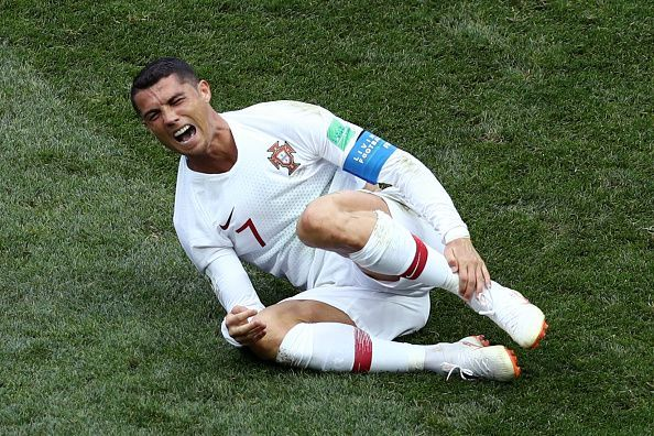 Ronaldo suffered an injury playing for Portugal