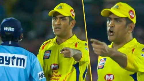 Dhoni losses his cool