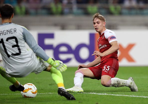 Smith-Rowe scored against Qarabag in their Europa League group stage