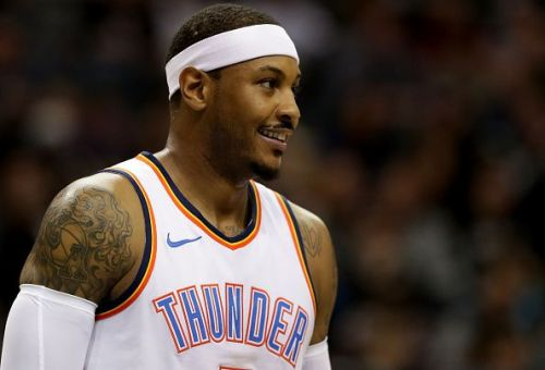Carmelo Anthony spent the 18/19 campaign with the Oklahoma City Thunder