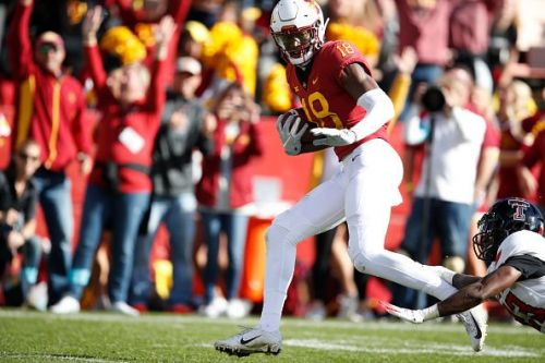 Hakeem Butler of Iowa State was the first pick on Day 3 of the 2019 NFL Draft