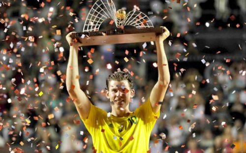 Dominic Thiem after winning the Rio Open in 2017