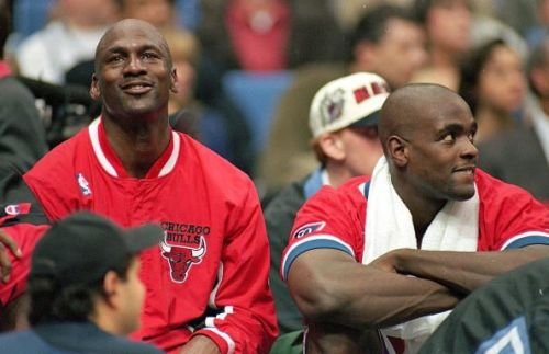 Michael Jordan #23 during his tenure with the Chicago Bulls