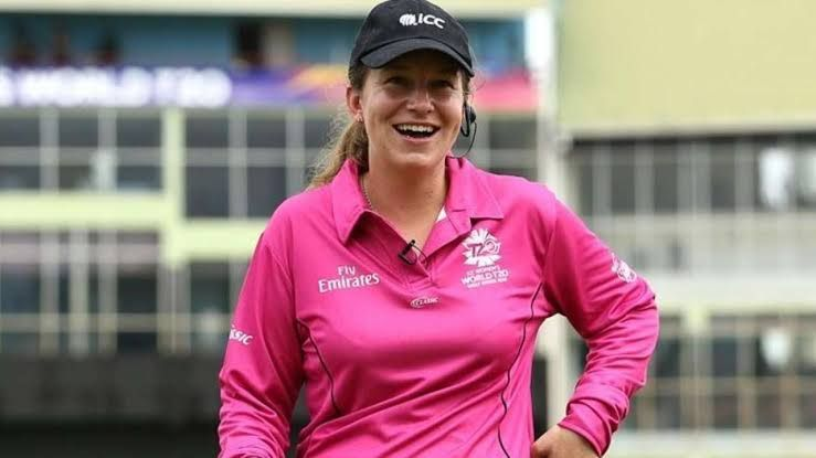 Claire Polosak has made history by becoming the first ever woman umpire to officiate a men