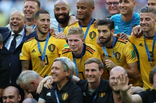 Belgium beat England to claim third place at the 2018 FIFA World Cup in Russia.