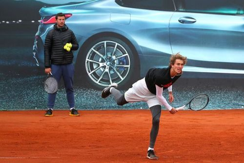 Alexander Zverev training in Munich