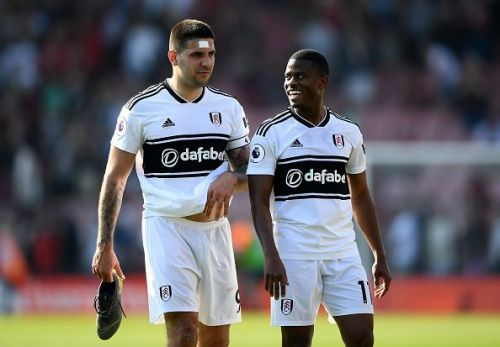 Fulham FC players walking off the field after a 0-1 victory over Bournemouth
