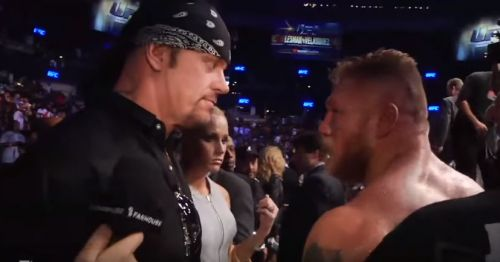 Undertaker and Lesnar's face-off at UFC 121