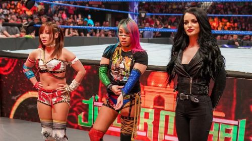Paige recently introduced Asuka & Kairi Sane as a new tag team
