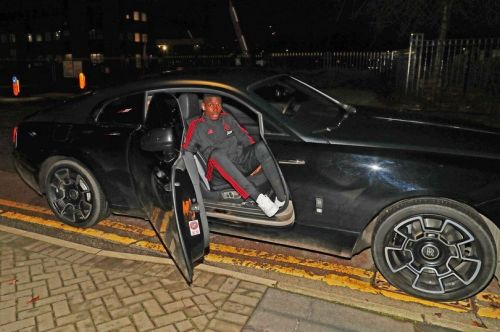 Paul Pogba pictured in his Rolls Royce near to the time of the incident