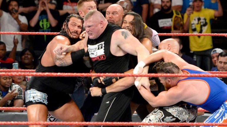 Image result for wwe lesnar brawl