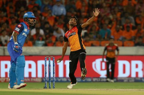 Sandeep Sharma, leading wicket-taker at present. (Image courtesy: BCCI/iplt20.com)