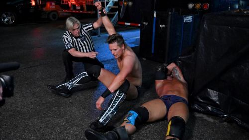 The Miz defeated SAnitY in a 3-on-1 handicap match during the episode