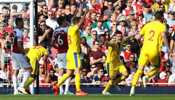 Arsenal lose an important Crystal Palace