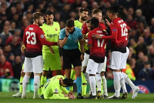 The 31-year-old also suffered an injury during the game after Smalling's hand hit him on the face