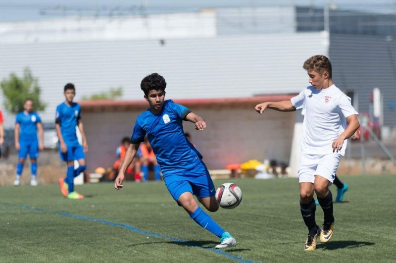 Zayed Bin Waleed in action during the Du LaLiga Championship