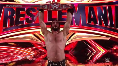 Rollins dethroned the Beast for the second time at WrestleMania, in the show's opener.