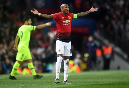 Manchester United Captain, Ashley Young, was not at his best on Wednesday