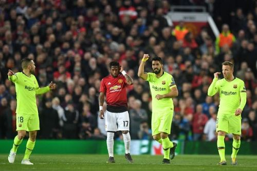 The Blaugrana struggled when Manchester United pressed them higher up the pitch