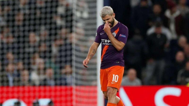 Sergio Aguero missed a penalty against Tottenham Hotspur