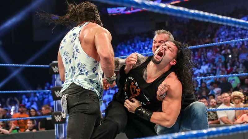 Roman Reigns vs Shane McMahon and Elias