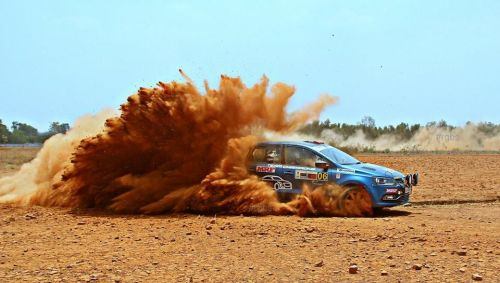Dean Mascarenhas in action - INRC Team Champions (Photo Credit: Raghu Gowda)
