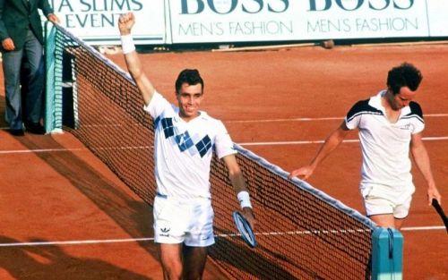 Ivan Lendl (L) and John McEnroe