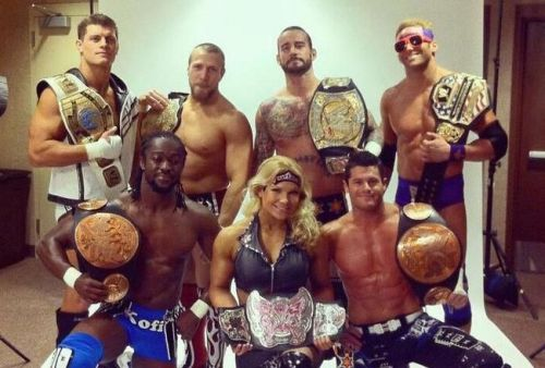 CM Punk and Kofi Kingston as title holders together!