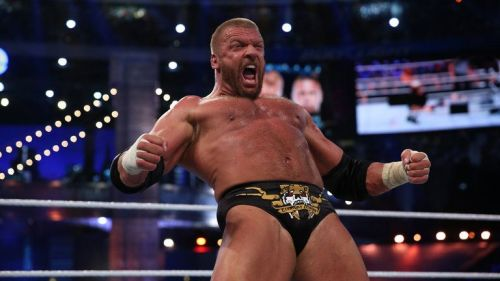 The most straight-forward ending is Triple H winning after pinning Batista.