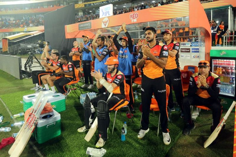 The SRH middle order will have to do a lot more than applaud their openers in this match. (Image Courtesy: IPLT20)