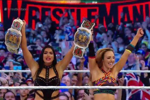 The IIconics claim victory at WrestleMania