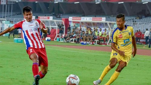 Aiborlang (left) has previously played for NorthEast United FC and Mumbai City FC