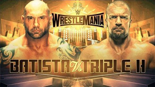Batista will take on Triple H at WrestleMania 35.