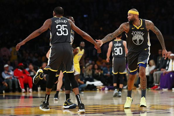 Durant and Cousins carried the Warriors home in Los Angeles