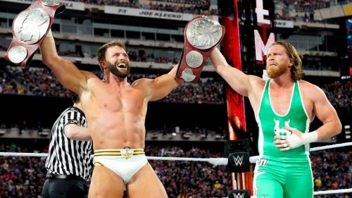 Zack Ryder and Curt Hawkins are the new RAW Tag-Team Champions