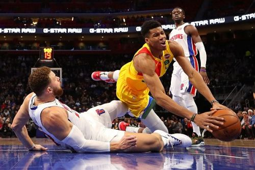 Giannis Antetokoumpo is set to go up against a resurgent Blake Griffin and the Detroit Pistons