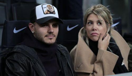 Icardi with his wife and agent Wanda Nara