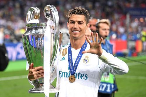 Ronaldo won the Champions League four times with Real Madrid and five times overall
