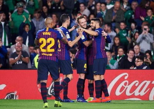 Where does Barcelona rank amongst the best teams in the world for the month of April?