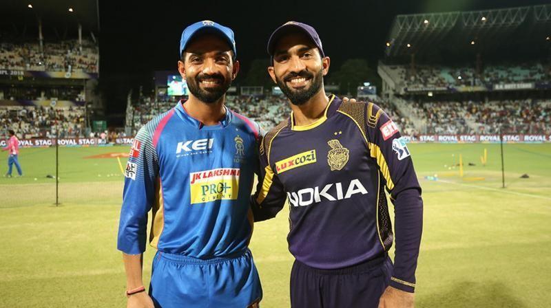 राजस्थान और कोलकाता के कप्तान