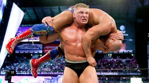 Lesnar defeated Angle at WrestleMania XIX to win his second WWE Championship.